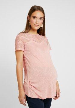 Dorothy Perkins Maternity - VICTORIANA INSERT SHORT SLEEVE - Print T-shirt - blush