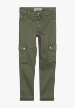 Blue Effect - GIRLS HIGH WAIST PANT CROPPED - Relaxed fit jeans - khaki reactive