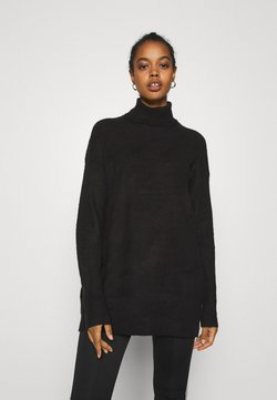 Nly by Nelly - LONG ROLL NECK  - Trui - black