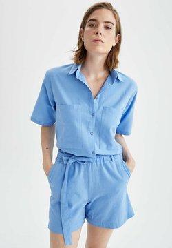 DeFacto - CROPPED FIT - Koszula - blue