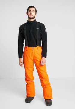 Brunotti - FOOTSTRAP MEN SNOWPANTS - Pantalon de ski - fluo orange