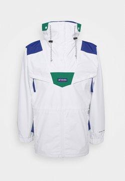 Columbia - MONASHEE ANORAK - Impermeabile - white/lapis blue/emerald green