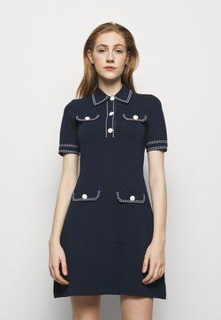 MICHAEL Michael Kors - CONTRAST STITCH BUTTON DRESS - Vestido de tubo - midnight blue