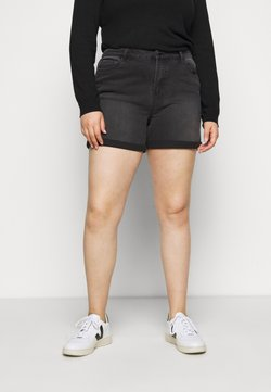 Simply Be - MOM SHORTS - Jeansshort - black