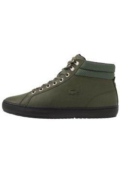 Lacoste - STRAIGHTSET - Sneaker high - khaki/black