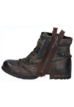 Replay - Schnürstiefelette - dark brown/dark green