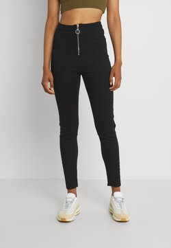 Missguided - RING ZIP OUTLAW - Jegging - black