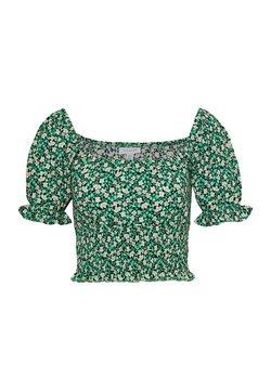 Topshop - SHIRRED WAIST - Blouse - green