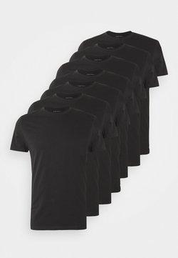 Pier One - 7 PACK - T-shirt basic - black