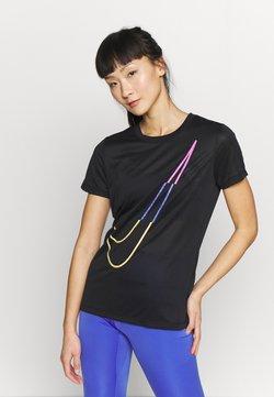 Nike Performance - W NK DRY TEE LEG ICON CLASH - T-shirt print - black