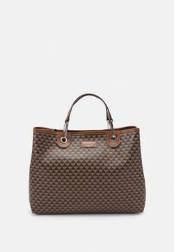 Emporio Armani - MYEABORSA SET - Handbag - moro/ecru/tabacco