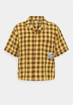 Vintage Supply - SNOOPY BOXY - Vapaa-ajan kauluspaita - yellow
