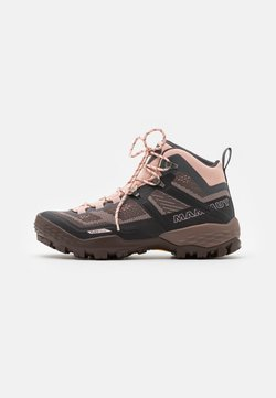 Mammut - DUCAN MID GTX WOMEN - Hiking shoes - dark titanium/evening sand