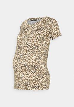Supermom - TEE LEOPARD - T-Shirt print - dull gold