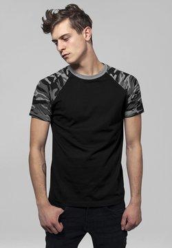 Urban Classics - RAGLAN CONTRAST  - T-Shirt print - black/ grey