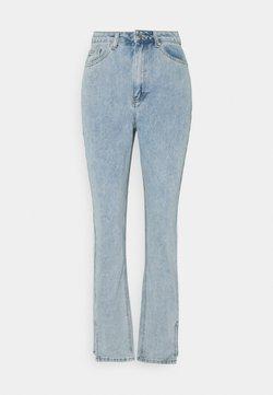 Missguided Tall - SIDE SPLIT HEM MOM - Jeans Straight Leg - blue
