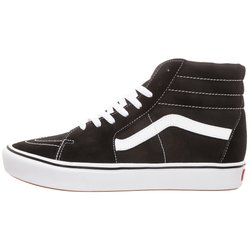 Vans - UA COMFYCUSH SK8-HI - Korkeavartiset tennarit - black / true white