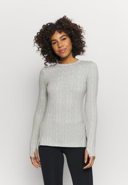 Free People - CHILLY NIGHTS LONG SLEEVE - Strickpullover - heather grey