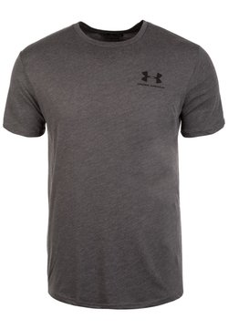 Under Armour - SPORTSTYLE LEFT CHEST - T-Shirt basic - charcoal medium heather