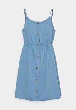 Vero Moda - VMFLICKA STRAP SHORT DRESS  - Vestido vaquero - light blue