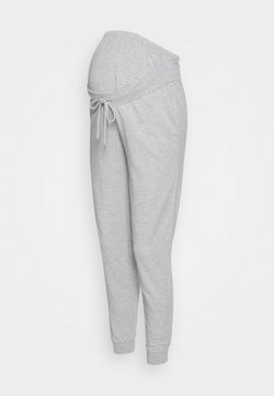Anna Field MAMA - SLIM FIT JOGGERS - OVERBUMP - Jogginghose - light grey