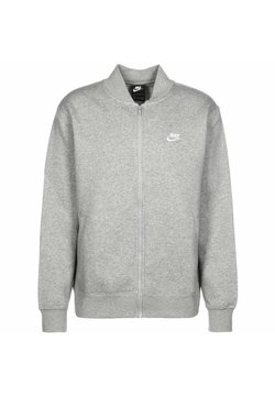 Nike Sportswear - M NSW CLUB - Felpa aperta - dark grey heather / white