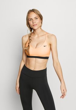 Nike Performance - INDY BRA - Sport BH - washed coral/black/black
