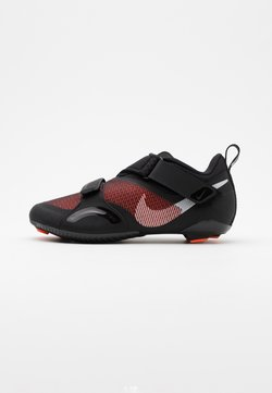 Nike Performance - SUPERREP CYCLE - Fahrradschuh - black/metallic silver/hyper crimson