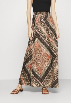 ONLY - ONLCECILIA ANCLE SKIRT WVN - Maksihame - hot sauce/spice scarf