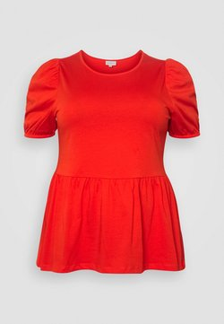 ONLY Carmakoma - CARANNI PUFF - T-Shirt print - poinciana