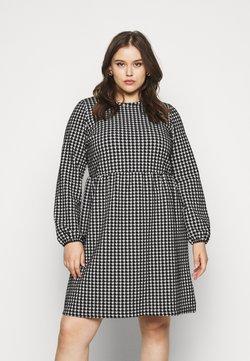 Noisy May Curve - NMHOUND LOOSE DRESS - Sukienka z dżerseju - black/white