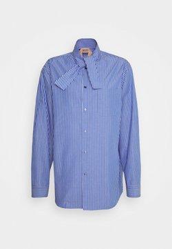 N°21 - Bluse - blu/bianco