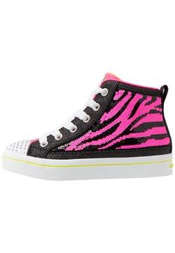 Skechers - FLIP-KICKS ZEBRA REVERSIBLE SEQUINS - Sneaker high - black sparkle/neon pink
