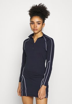 Missguided Petite - REFLECTIVE PIPING BODYCON MINI DRESS CODE CREATE - Vestido de tubo - navy