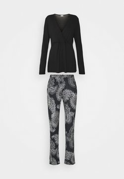 LASCANA - PAISLEY SET - Pyjama - black/white
