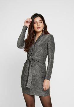 Missguided Petite - TWIST FRONT MINI DRESS - Vestido de cóctel - silver