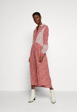 Object Tall - OBJSHAY DRESS - Skjortekjole - tandori spice/gardenia