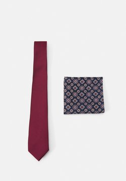 Burton Menswear London - EPP & GEO SET - Krawatte - burgandy