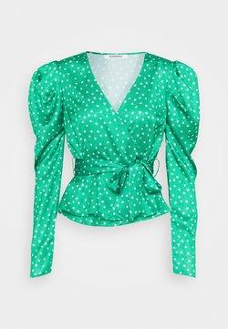 Glamorous - PUFF SLEEVE V NECK WRAP  - Bluse - green