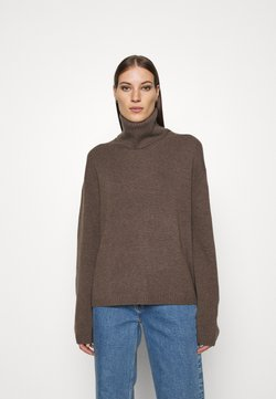 ARKET - TURTLENECK JUMPER - Strickpullover - brown medium