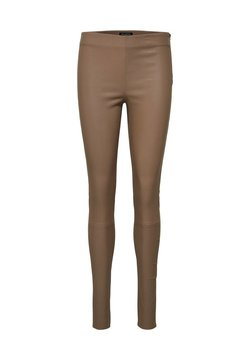 Selected Femme - SFSYLVIA STRETCH - Pantalon en cuir - fossil