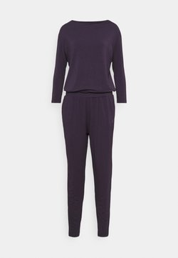 Curare Yogawear - JUMPSUIT WATERFALL - Trainingsanzug - dark aubergine