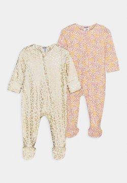 Cotton On - LONG SLEEVE ZIP ROMPER 2 PACK  - Pyjama - multicolor