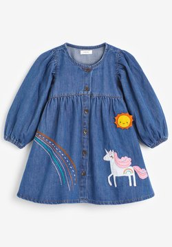 Next - UNICORN APPLIQUÉ - Jeanskleid - blue denim