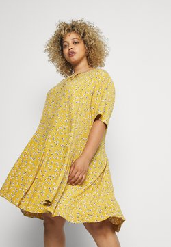 Zizzi - XANA KNEE DRESS - Freizeitkleid - golden yellow