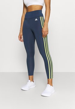 adidas Performance - Tights - crew navy/acid yellow/white