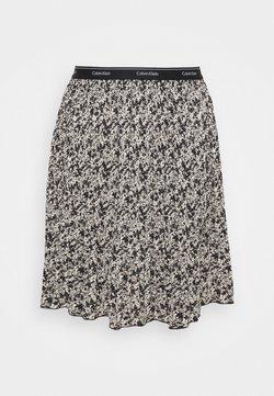 Calvin Klein - SHORT MICRO PLEAT SKIRT - Minirock - black/white