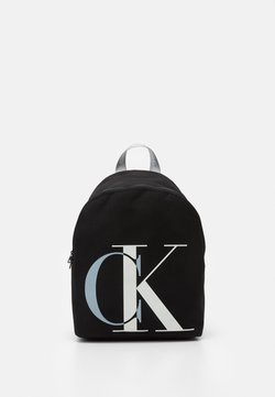 Calvin Klein Jeans - EXPLODED MONOGRAM BACKPACK - Reppu - black