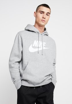 Nike Sportswear - CLUB - Hoodie - dark grey heather/dark steel grey/white