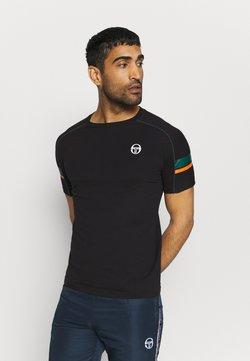 sergio tacchini - CLASS - T-shirt med print - black/botanical